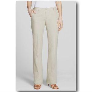 Michael Kors Straight Leg Stretch Linen Trousers